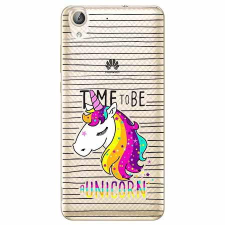 Etui na Huawei Y6 II - Time to be unicorn - Jednorożec.