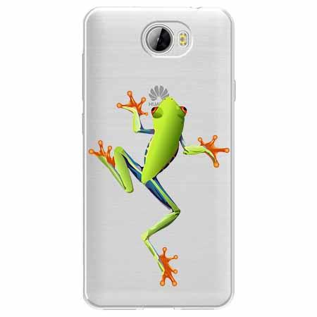 Etui na Huawei Y6 II Compact - Zielona żabka.