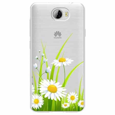 Etui na Huawei Y6 II Compact - Polne stokrotki.