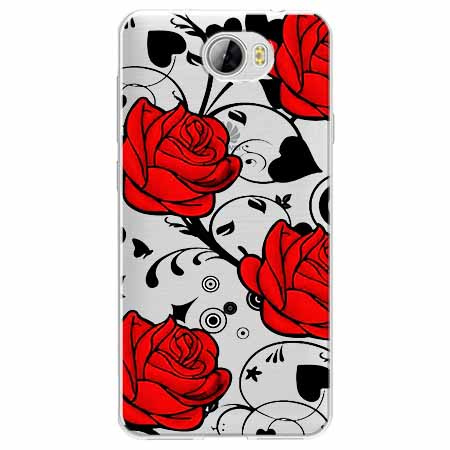 Etui na Huawei Y6 II Compact - Czerwone róże.