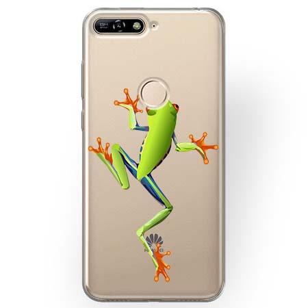 Etui na Huawei Y7 Prime 2018 - Zielona żabka.