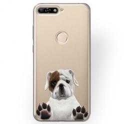 Etui na Huawei Y7 Prime 2018 - Słodki szczeniaczek.