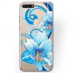Etui na Huawei Y7 Prime 2018 - Niebieski kwiat północy.
