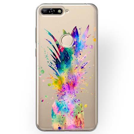 Etui na Huawei Y7 Prime 2018 - Watercolor ananasowa eksplozja.
