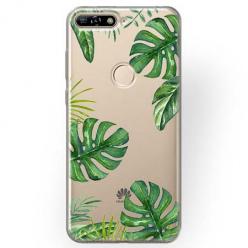 Etui na Huawei Y7 Prime 2018 - Egzotyczna roślina Monstera.