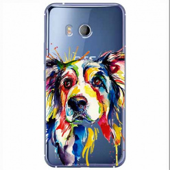 Etui na HTC U11 - Watercolor pies.