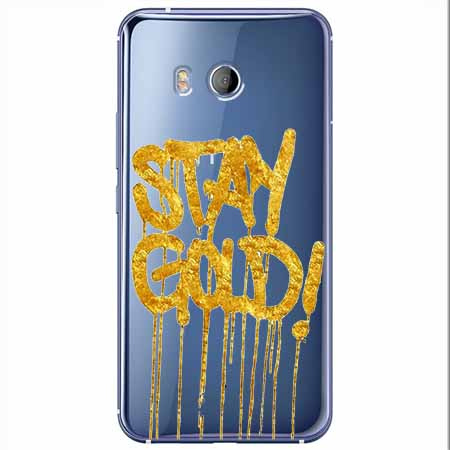 Etui na HTC U11 - Stay Gold.