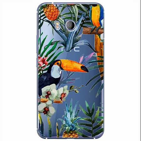 Etui na HTC U11 - Egzotyczne tukany.