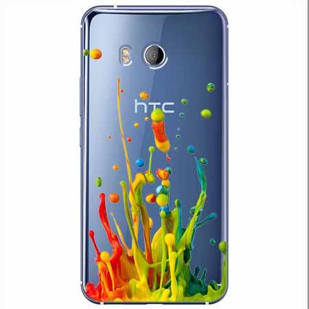 Etui na HTC U11 - Kolorowy splash.