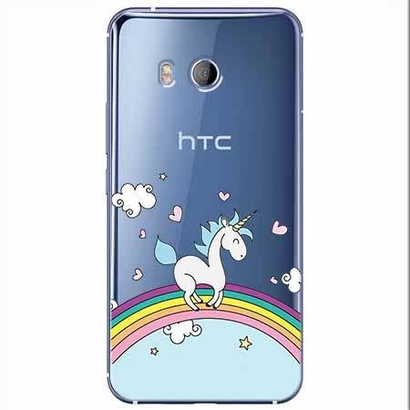 Etui na HTC U11 - Jednorożec na tęczy.