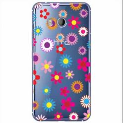 Etui na HTC U11 - Kolorowe stokrotki.