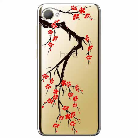 Etui na HTC Desire 12 - Krzew kwitnącej wiśni.
