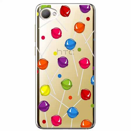 Etui na HTC Desire 12 - Kolorowe lizaki.