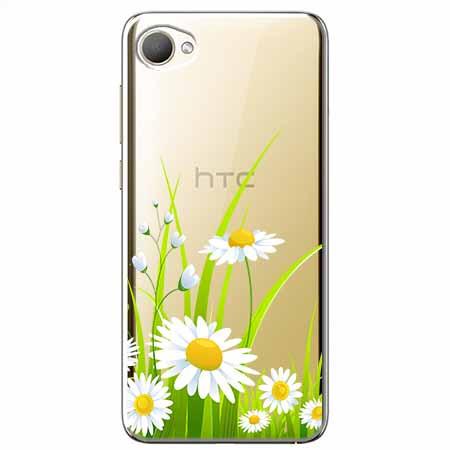 Etui na HTC Desire 12 - Polne stokrotki.