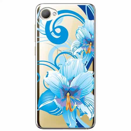 Etui na HTC Desire 12 - Niebieski kwiat północy.