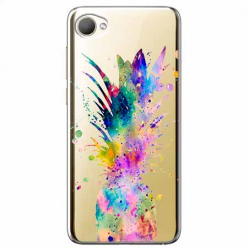 Etui na HTC Desire 12 - Watercolor ananasowa eksplozja.