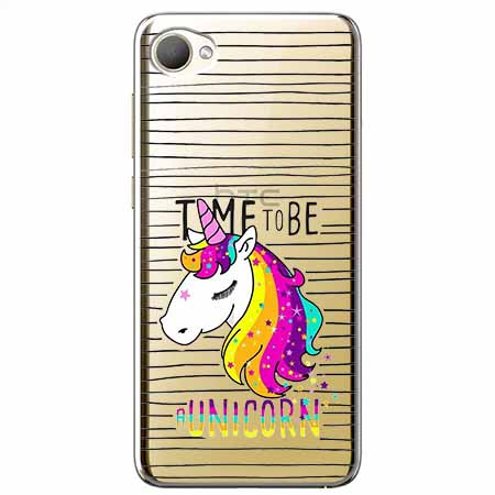 Etui na HTC Desire 12 - Time to be unicorn - Jednorożec.