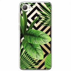 Etui na HTC Desire 12 - Egzotyczne liście bananowca.