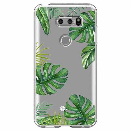 Etui na LG V30 - Egzotyczna roślina Monstera