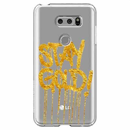 Etui na LG V30 - Stay Gold.