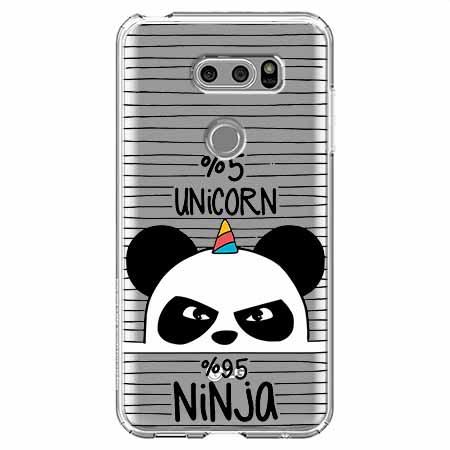 Etui na LG V30 - Ninja Unicorn - Jednorożec.