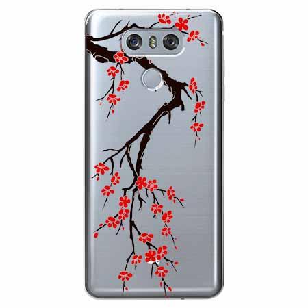 Etui na LG G6 - Krzew kwitnącej wiśni.
