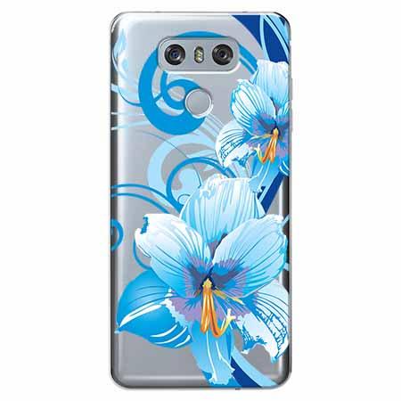 Etui na LG G6 - Niebieski kwiat północy.