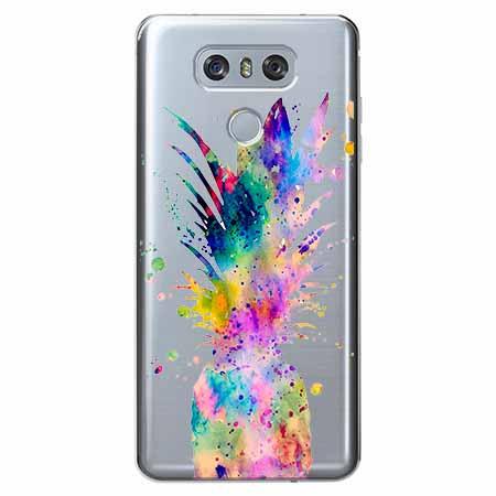 Etui na LG G6 - Watercolor ananasowa eksplozja.