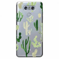 Etui na LG G6 - Kaktusowy ogród.