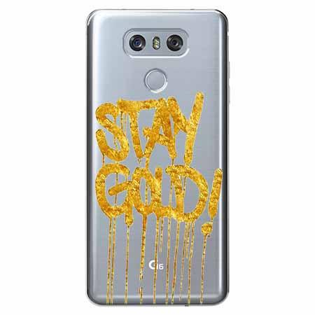 Etui na LG G6 - Stay Gold.