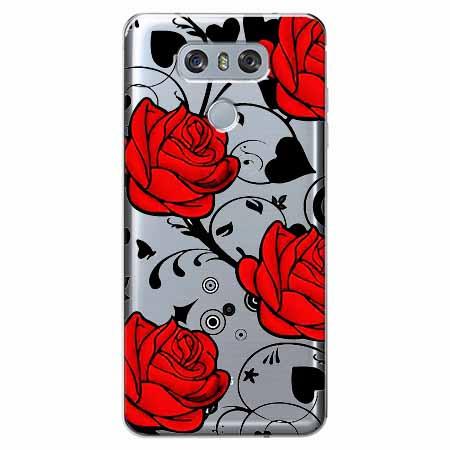 Etui na LG G6 - Czerwone róże.