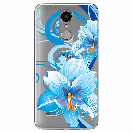 Etui na LG K8 2017 - Niebieski kwiat północy.