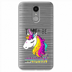 Etui na LG K8 2017 - Time to be unicorn - Jednorożec.