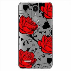 Etui na LG K8 2017 - Czerwone róże.