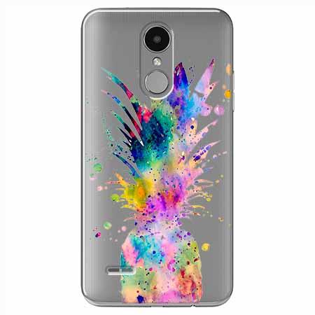 Etui na LG K4 2017 - Watercolor ananasowa eksplozja.