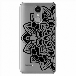 Etui na LG K4 2017 - Kwiatowa mandala.