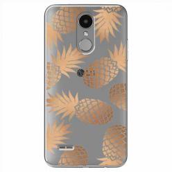Etui na LG K4 2017 - Złote ananasy.