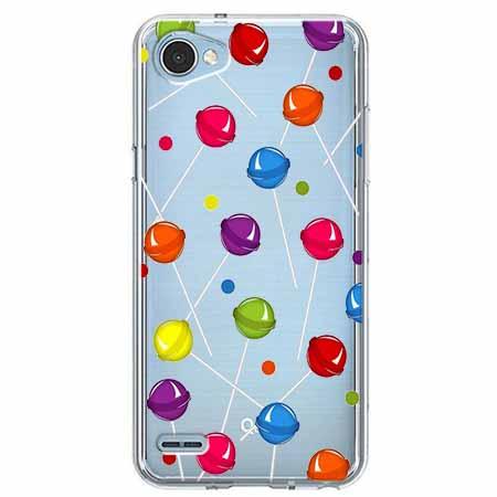 Etui na LG Q6 - Kolorowe lizaki.