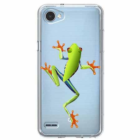 Etui na LG Q6 - Zielona żabka.