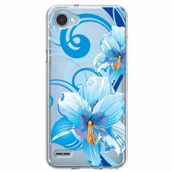 Etui na LG Q6 - Niebieski kwiat północy.