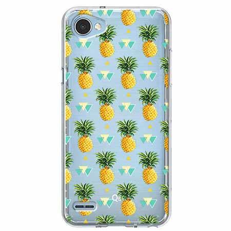 Etui na LG Q6 - Ananasowe szaleństwo.