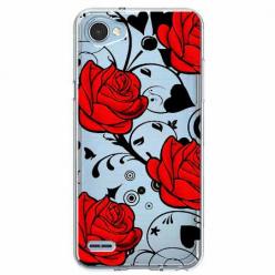 Etui na LG Q6 - Czerwone róże.