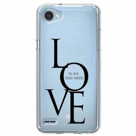 Etui na LG Q6 - All you need is LOVE.