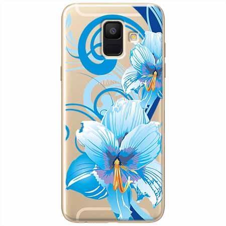 Etui na Samsung Galaxy A6 2018 - Niebieski kwiat północy.