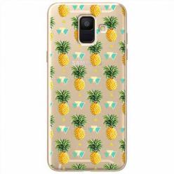 Etui na Samsung Galaxy A6 2018 - Ananasowe szaleństwo.