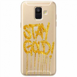 Etui na Samsung Galaxy A6 2018 - Stay Gold.