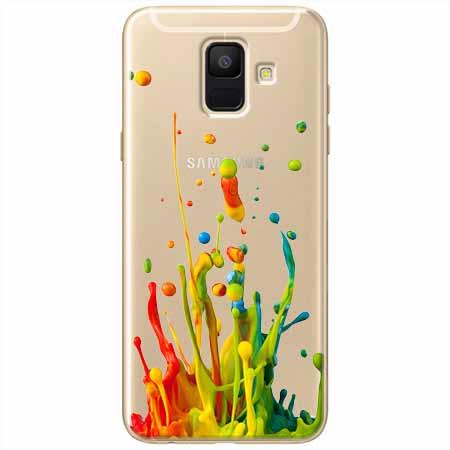 Etui na Samsung Galaxy A6 2018 - Kolorowy splash.