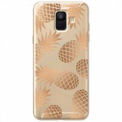 Etui na Samsung Galaxy A6 2018 - Złote ananasy.