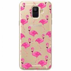 Etui na Samsung Galaxy A6 2018 - Różowe flamingi.