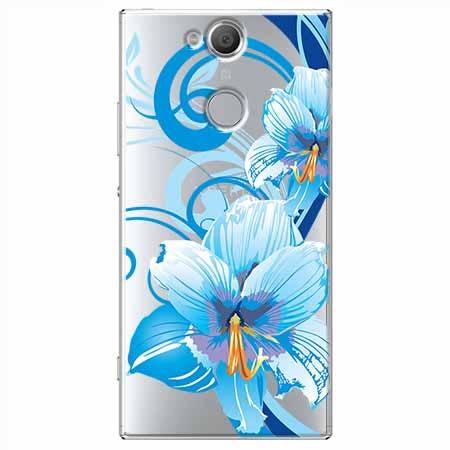 Etui na Sony Xperia XA2 - Niebieski kwiat północy.